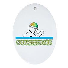 Breaststroke Oval Ornament