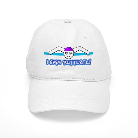 I Swim Butterfly Cap