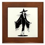 Gothic Sexy Witch Framed Tile
