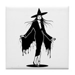 Gothic Sexy Witch Tile Coaster