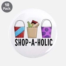 """Shop-A-Holic (bags) 3.5"""" Button (10 pack)"""