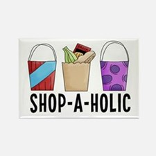 Shop-A-Holic (bags) Rectangle Magnet