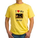 Love My Girls Yellow T-Shirt