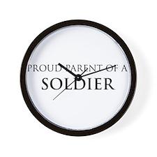 Proud Parent: Soldier Wall Clock