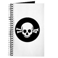 Goth Skull & Crossbones Journal