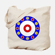Curling Circle with Rocks Tote Bag