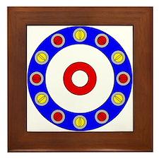 Curling Circle with Rocks Framed Tile
