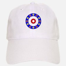 Curling Circle with Rocks Baseball Baseball Cap