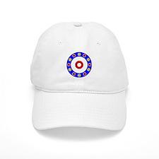 Curling Circle with Rocks Baseball Cap