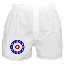 Curling Circle with Rocks Boxer Shorts
