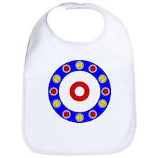 Curling Circle with Rocks Bib