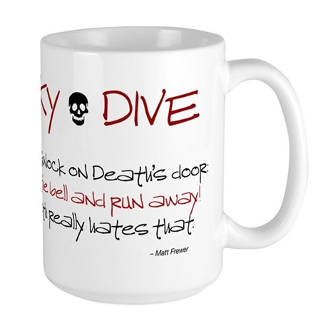 Never Knock Large Mug