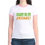 Rachel's Proud to be Awesome Jr. Ringer T-Shirt