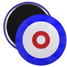 """Curling Circle Ice 2.25"""" Magnet (10 pack)"""