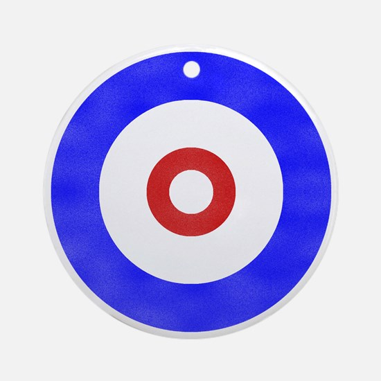 Curling Circle Ice Ornament (Round)