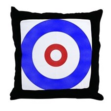 Curling Circle Ice Throw Pillow