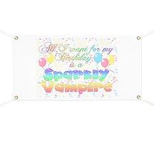 Twilight Birthday Sparkly Vam Banner