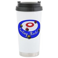 Curling Rocks! Travel Coffee Mug