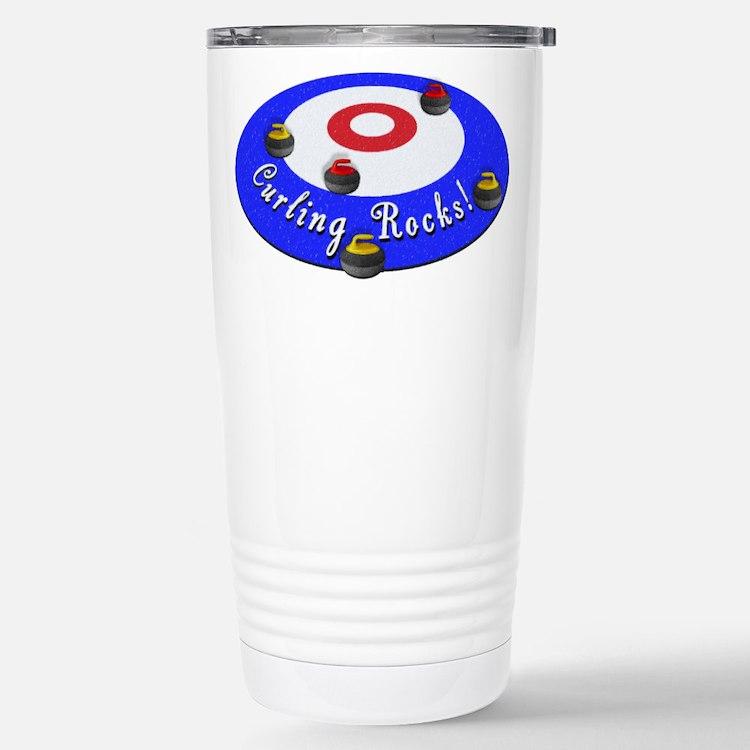 Curling Rocks! Travel Mug