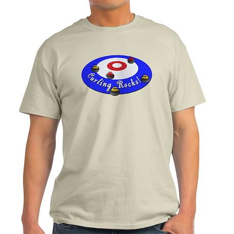 Curling Rocks! Light T-Shirt