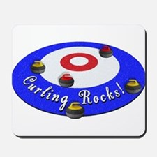 Curling Rocks! Mousepad