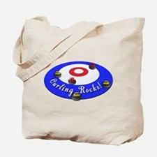 Curling Rocks! Tote Bag
