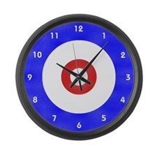 Curling Circle Ice Large Wall Clock