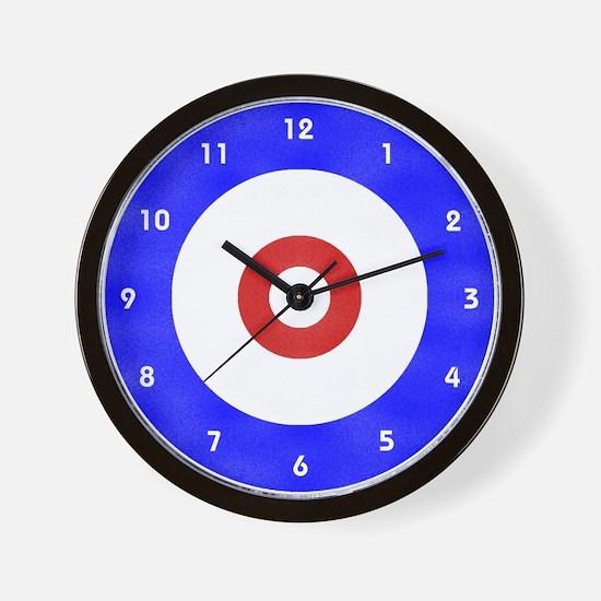 Curling Circle Ice Wall Clock
