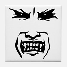 Evil Vampire Face Tile Coaster
