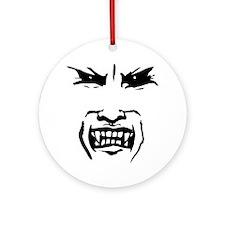 Evil Vampire Face Ornament (Round)
