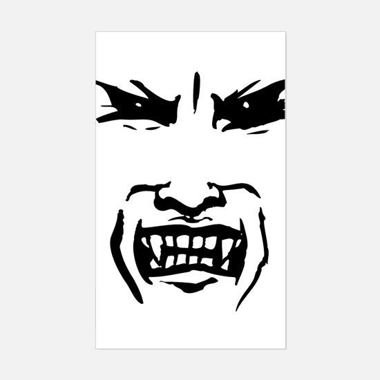 Evil Vampire Face Rectangle Decal