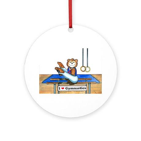 Male Gymnast Ornament (Round)