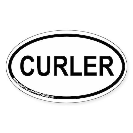 Curler Sticker (Oval)