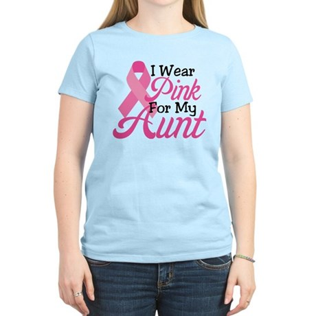 Pink For Aunt Women's Light T-Shirt