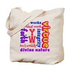 Young Women Values Tote Bag