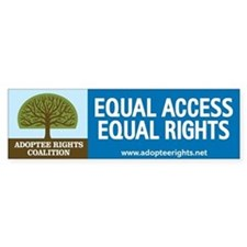 Adoptee Rights Coalition Bumper Sticker