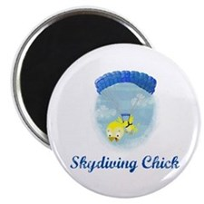 Skydiving Chick (2) Magnet