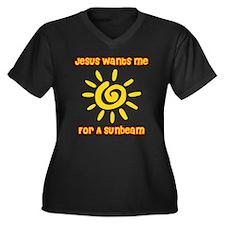 Jesus Wants Me For A Sunbeam Women's Plus Size V-N