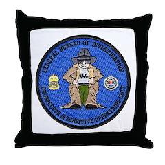 FBI Undercover Throw Pillow