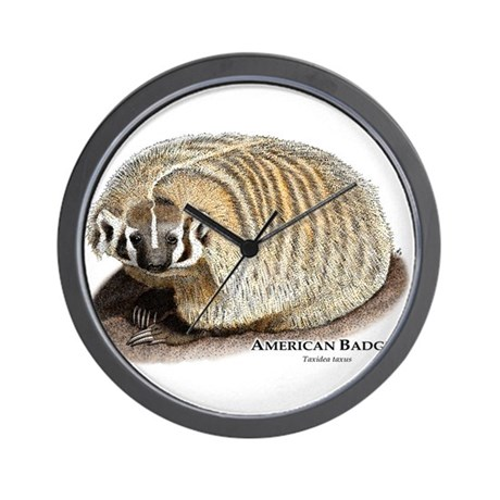 American Badger Wall Clock