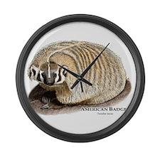 American Badger Large Wall Clock