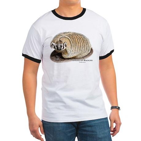 American Badger Ringer T
