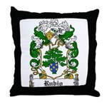 Rubio Coat of Arms Throw Pillow