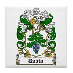 Rubio Coat of Arms Tile Coaster