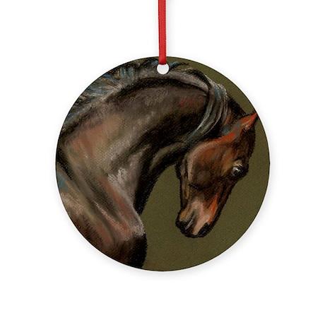 Morgan Stallion Ornament (Round)