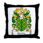 Rueda Coat of Arms Throw Pillow