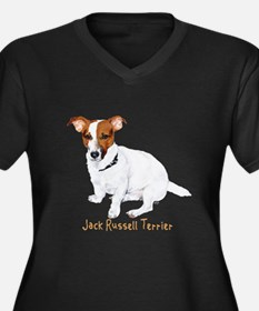 Jack Russell Terrier Painting Women's Plus Size V-