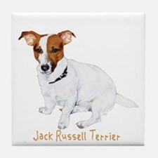 Jack Russell Terrier Painting Tile Coaster