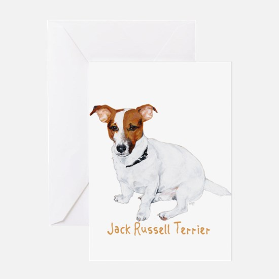 Jack Russell Terrier Painting Greeting Card