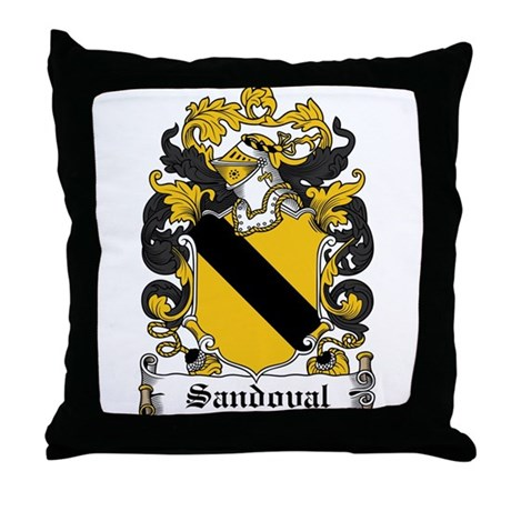 Sandoval Coat of Arms Throw Pillow
